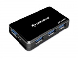 TRANSCEND USB3.0 Hub 4 poorts - Including 1 fast charging port - enable charging new iPad