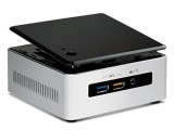 Intel NUC5i3RYH MB, BOXNUC5I3RYH Intel Core i3-5xxx, BGA1168, i3-5010U, N, Black, Stainless steel