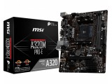MSI Micro-ATX MB, AMD A320, Socket AM4, DDR4